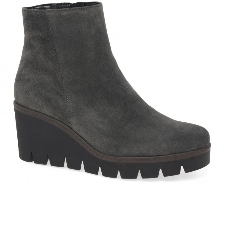 Gabor Utopia Womens Chunky Wedge Heel Ankle Boots