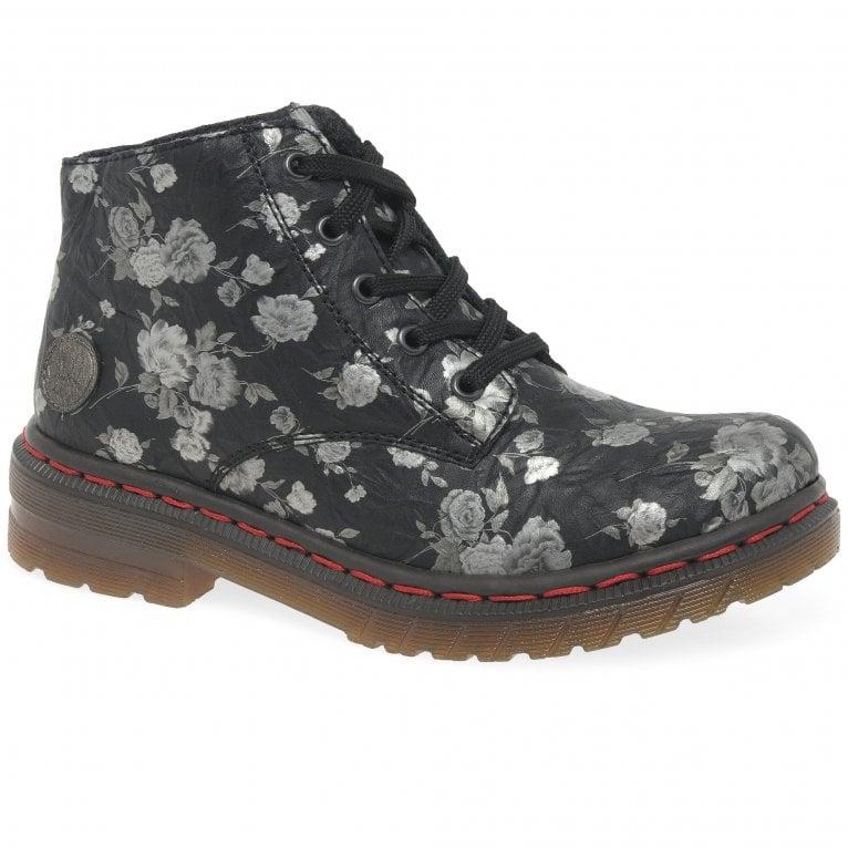 Rieker Lion Womens Floral Ankle Boots