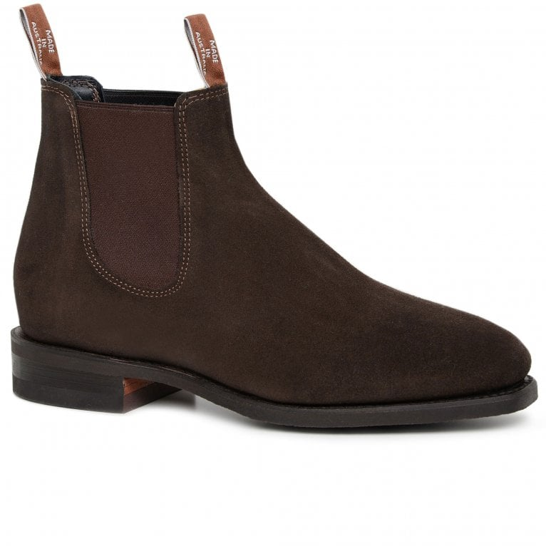 R.M.Williams Suede Comfort Craftsman Mens Chelsea Boots