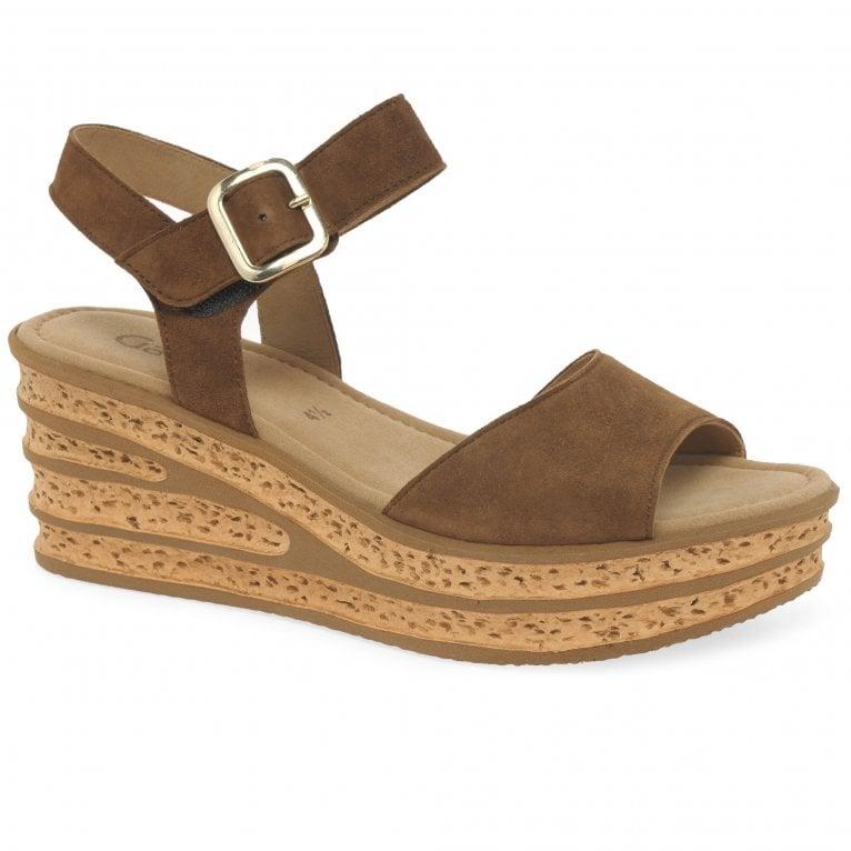 Gabor Twirl Womens Wedge Heel Sandals
