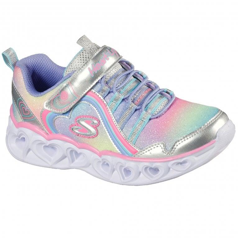 Skechers Heart Lights Rainbow Youth Girls Sports Trainers