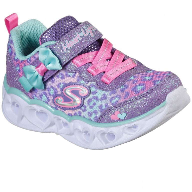 Skechers Heart Lights Toddler Girls Sports Trainers