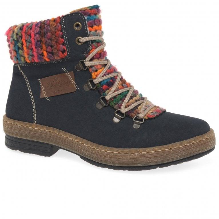 Rieker Emerald Womens Hiker Zip Ankle Boots