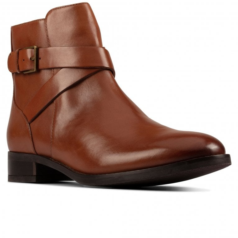 Clarks Hamble Buckle Womens Wide Fit Ankle Boots