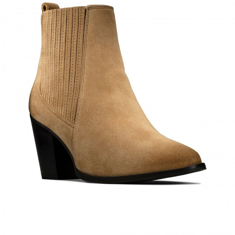 Clarks West Lo Womens Heeled Ankle Boots