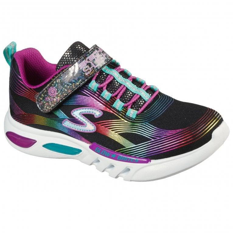 Skechers Glow Brites Girls Sports Trainers