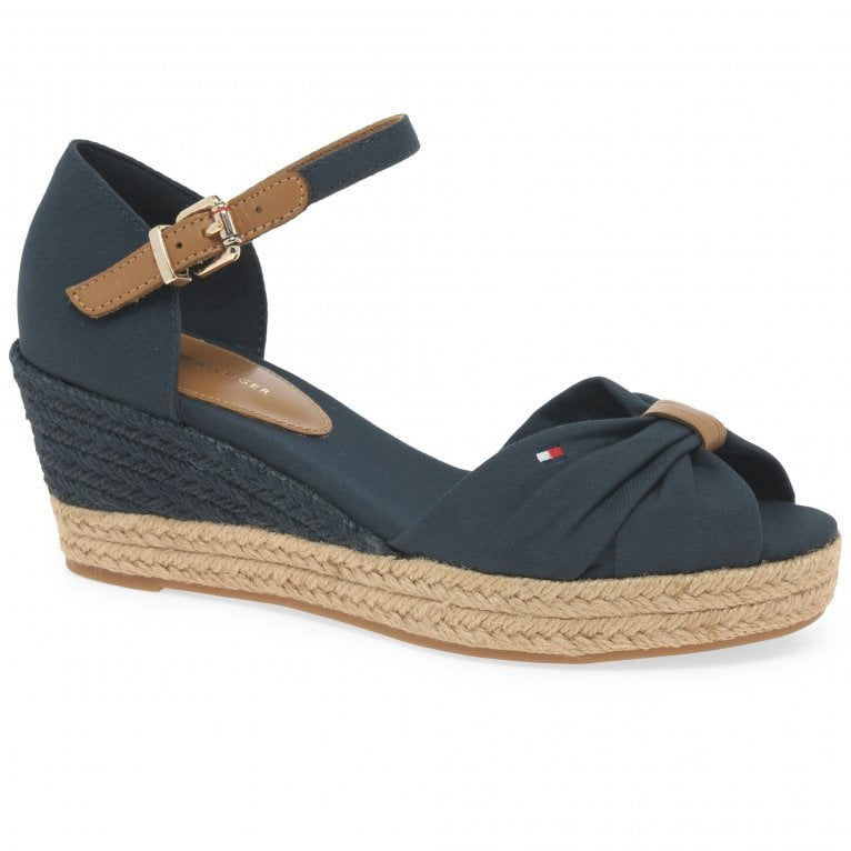 Tommy Hilfiger Basic Open Toe Mid Wedge Womens Sandals