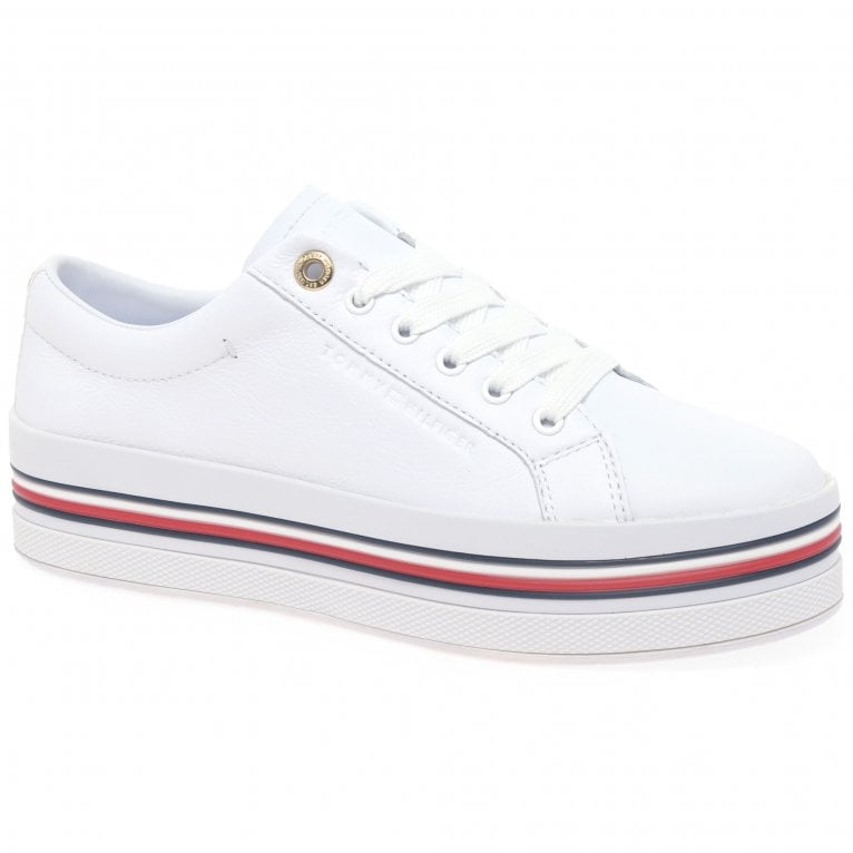 Tommy Hilfiger Corporate Flatform Cupsole Womens Trainers