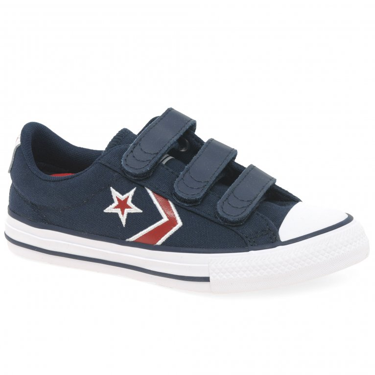 Converse Star Player 3V Embroid Kids Youth Canvas Trainers