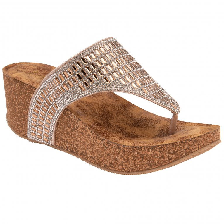 Lotus Kalene Womens Toe Post Wedge Sandals