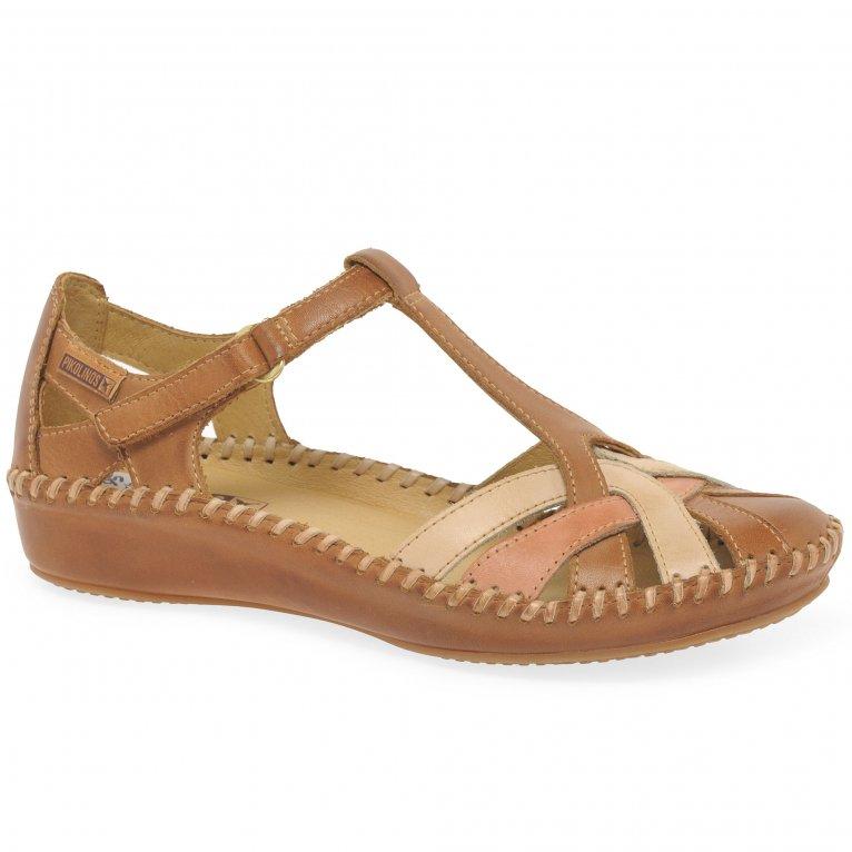 Pikolinos Vallarta Womens Woven Leather Sandals