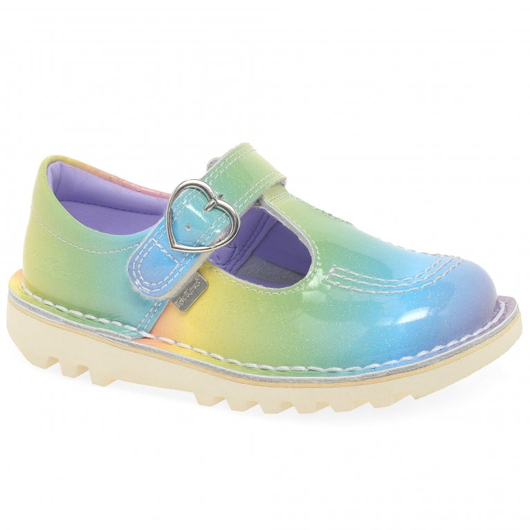 Kickers T-Bar Rainbow Girls Infant Shoes