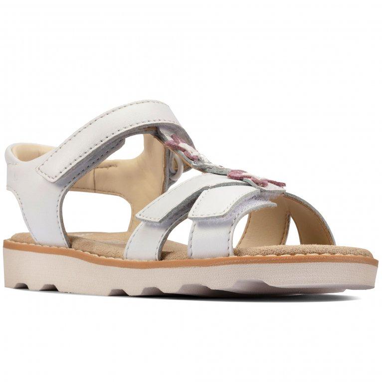 Clarks Crown Flower K Girls Sandals