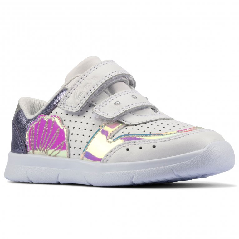 Clarks Ath Shell T Girls Infant Sports Trainers