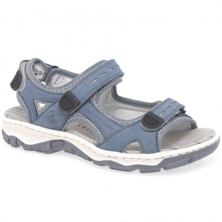 Rieker Liza Womens Riptape Sandals