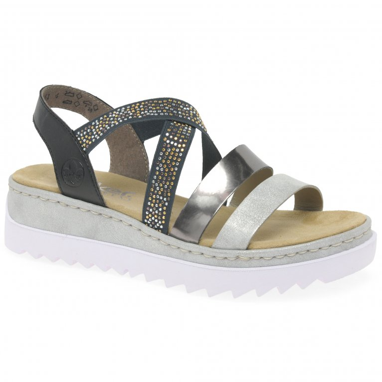 Rieker Strive Womens Wedge Heel Sandals