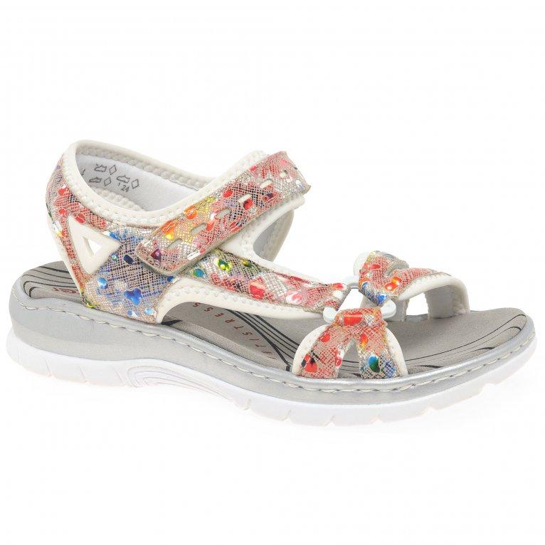 Rieker Simmy Womens Riptape Sandals