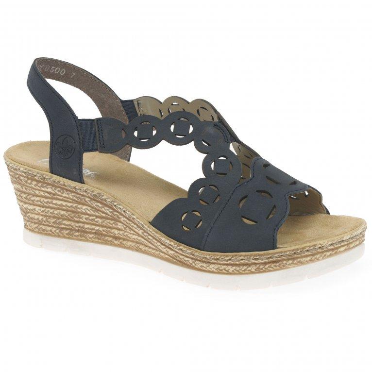 Rieker Nancy Womens Wedge Heel Sandals