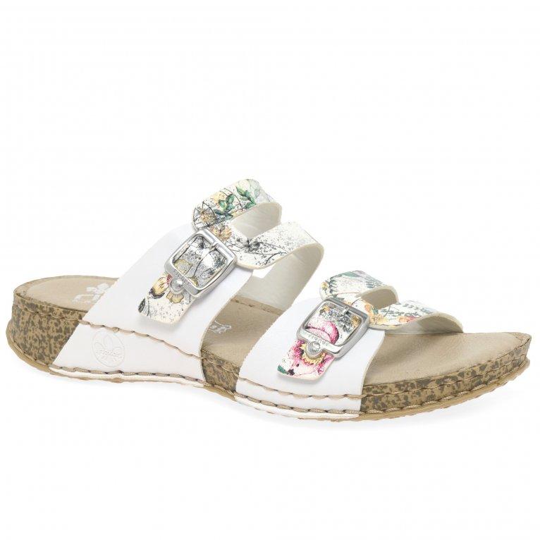 Rieker Mink Womens Double Buckle Sandals
