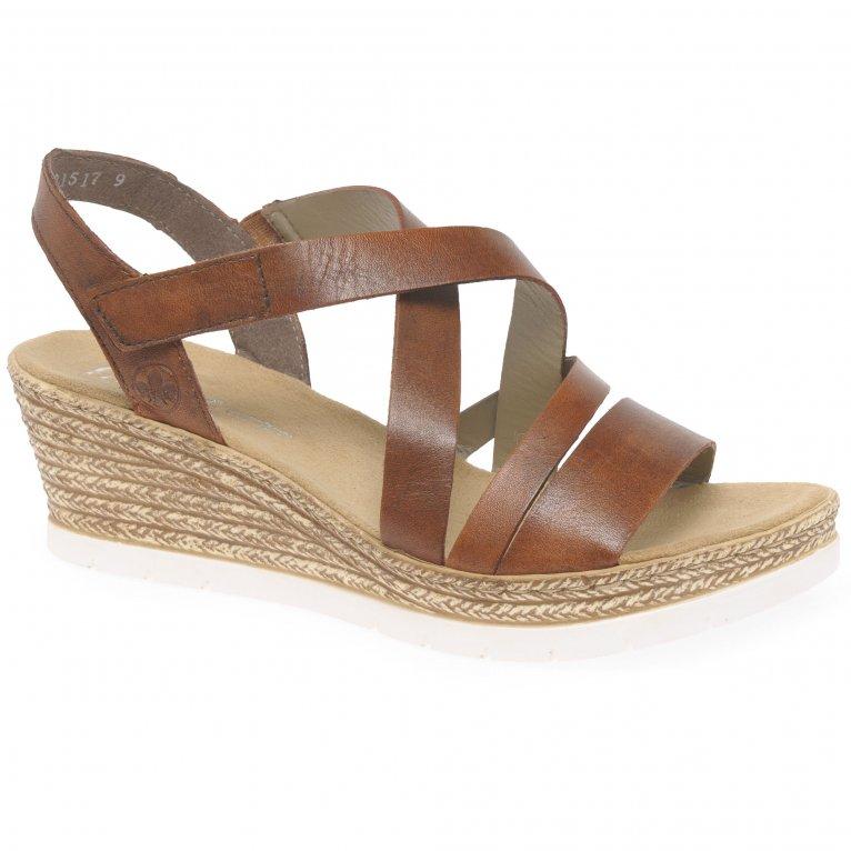 Rieker Newton Womens Wedge Heel Sandals