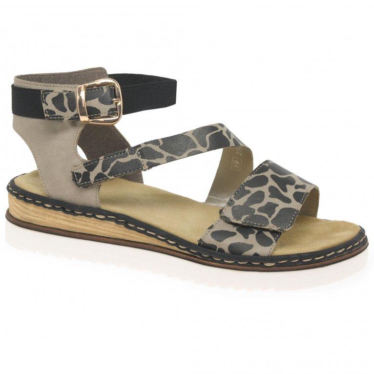 Rieker Giraffe Womens Low Wedge Heel Sandals