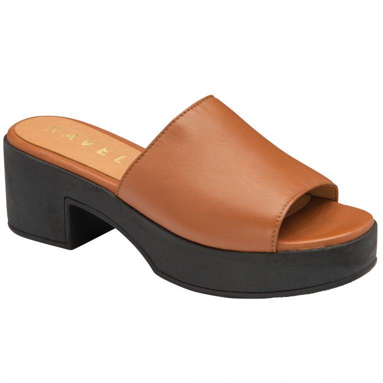 Ravel Paola Womens Platform Slip On Sandals