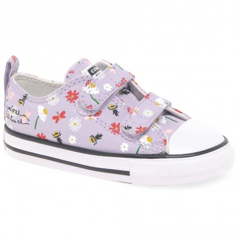 Converse Allstar 2V Girls Oxford Infant Canvas Shoes