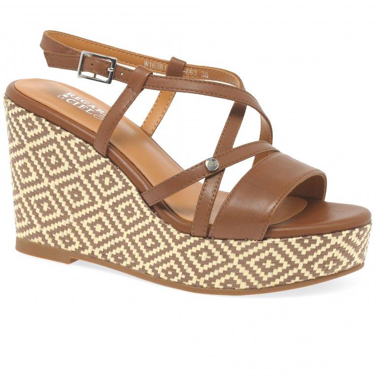 Regarde Le Ciel Virna 02 Womens Wedge Heel Sandals