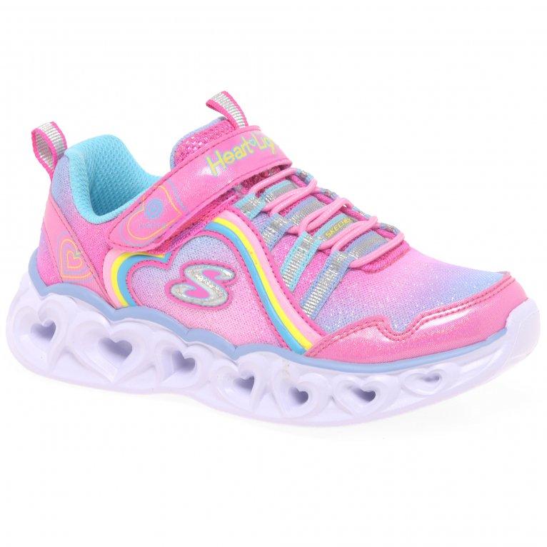 Skechers Heart Lights Rainbow Girls Infant Sports Trainers