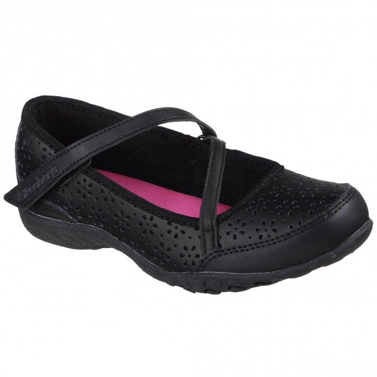 Skechers Breathe-Easy Playground Poppies Girls School Shoes