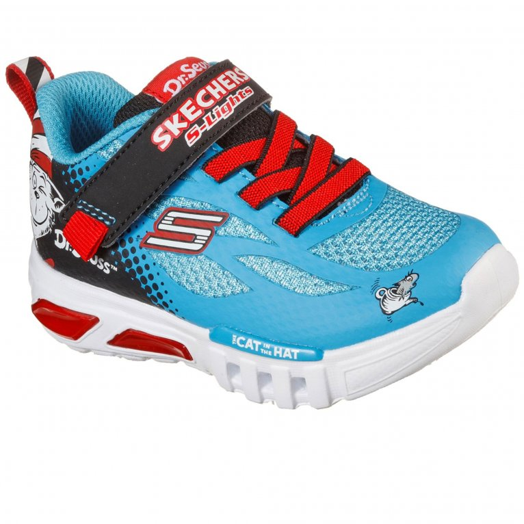Skechers Flex-Glow Lighted Things Boys Trainers
