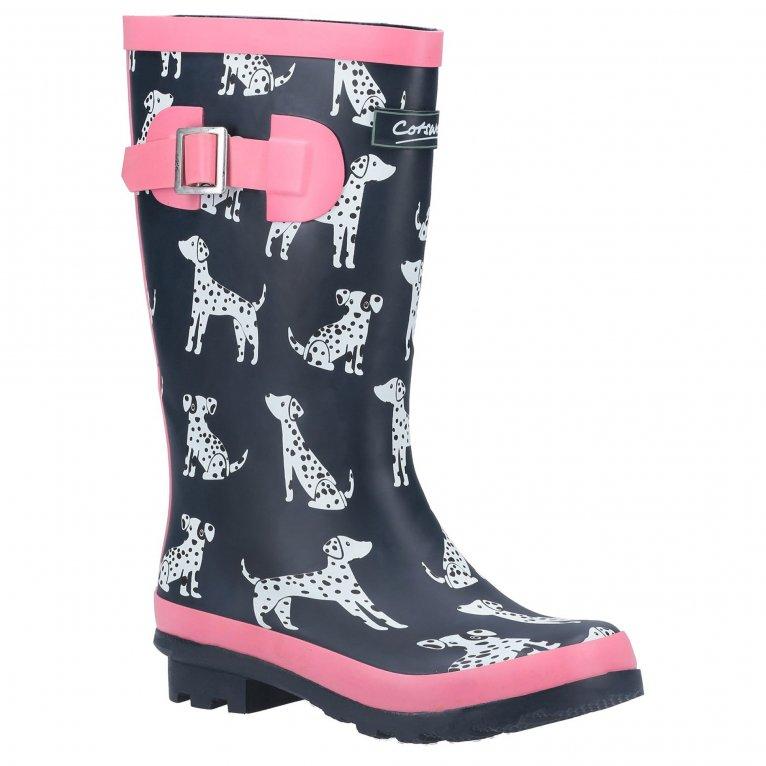 Cotswold Spot Girls Wellington Boots