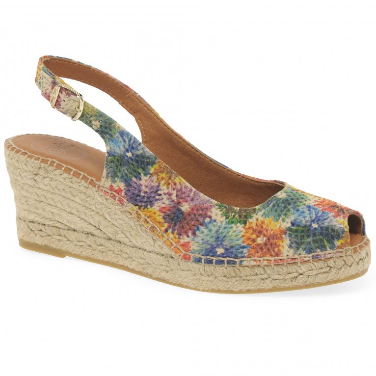 Toni Pons Carol Womens Wedge Heel Espadrille Sandals