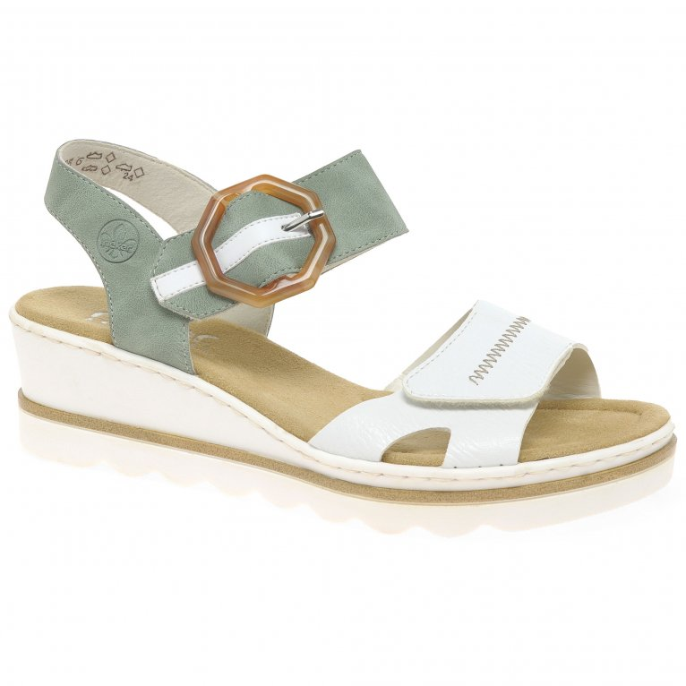 Rieker Jena Womens Wedge Heel Sandals