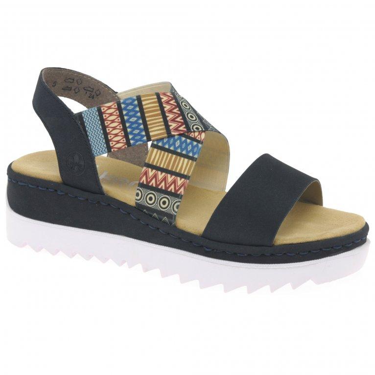 Rieker Aztec Womens Wedge Heel Sandals