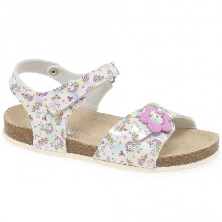 Lelli Kelly Sonia Unicorn Girls Rip Tape Sandals