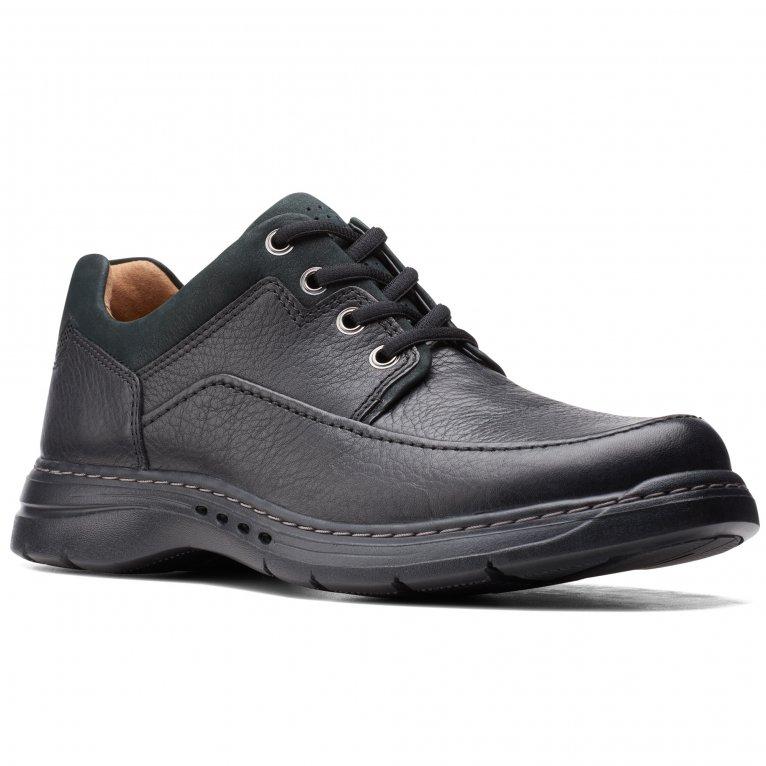 Clarks Un Brawley Lace Mens Wide Fit Lace Up Shoes