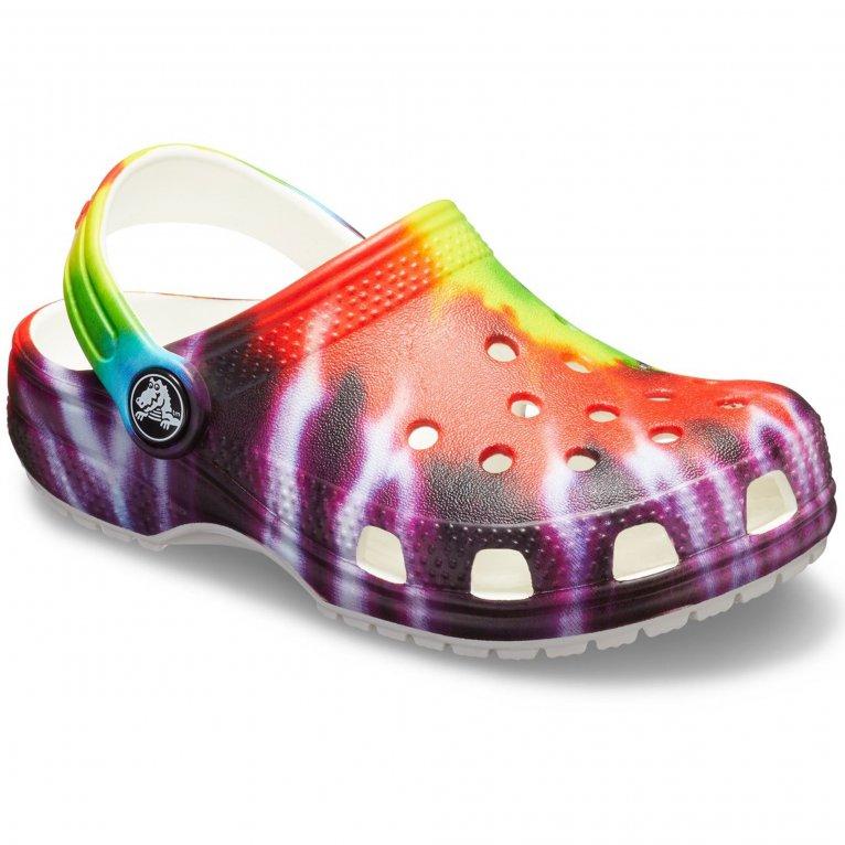 Crocs Classic Tie Dye Graphic Childrens Sandals