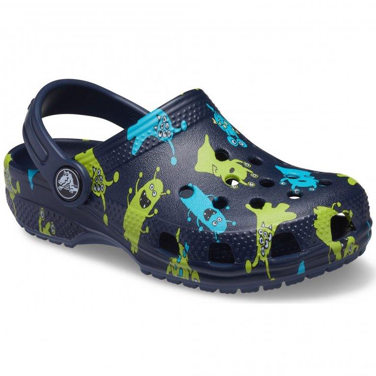 Crocs Classic Monster Print Boys Sandals