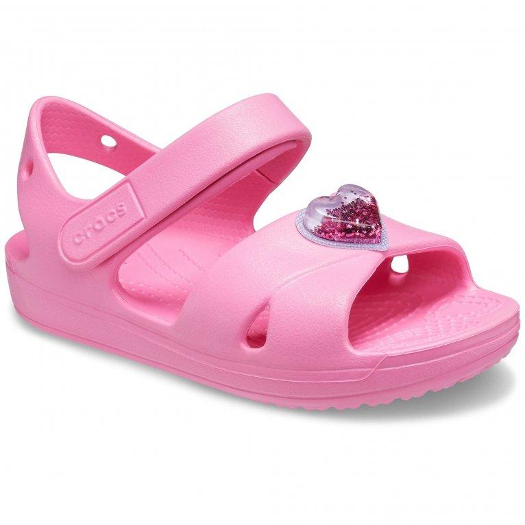 Crocs Classic Cross Strap Charm Girls Sandals