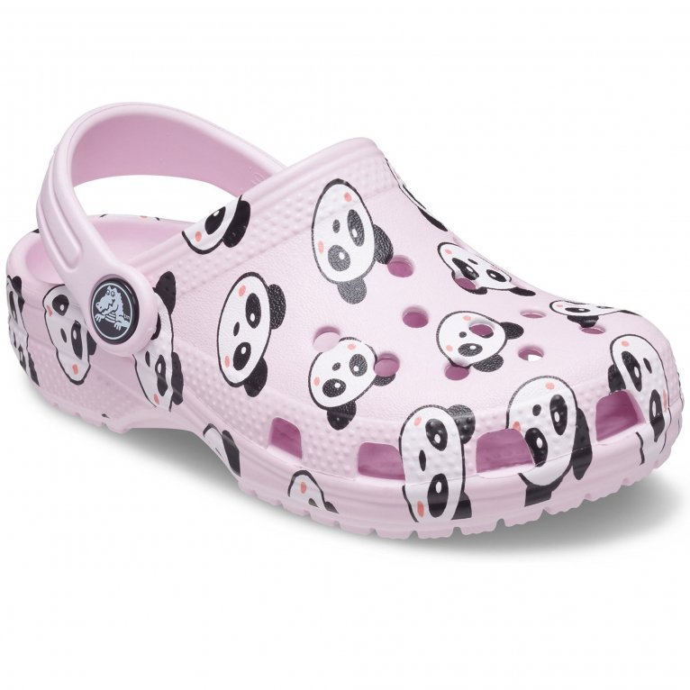 Crocs Classic Panda Print Girls Sandals