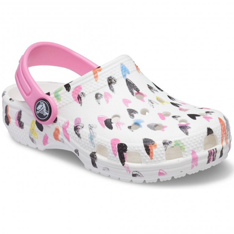 Crocs Classic Heart Print Girls Sandals