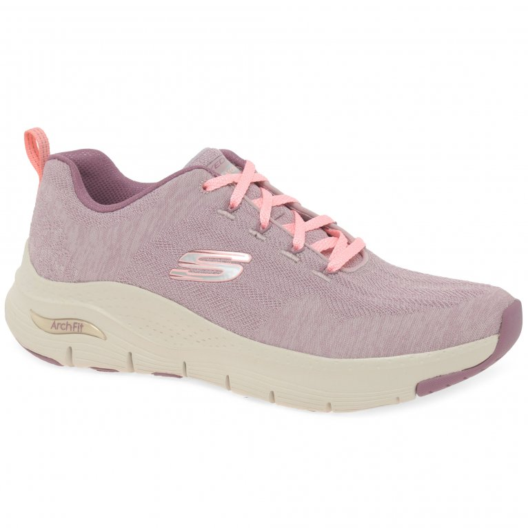 Skechers Arch Fit Comfy Wave Womens Sports Trainers