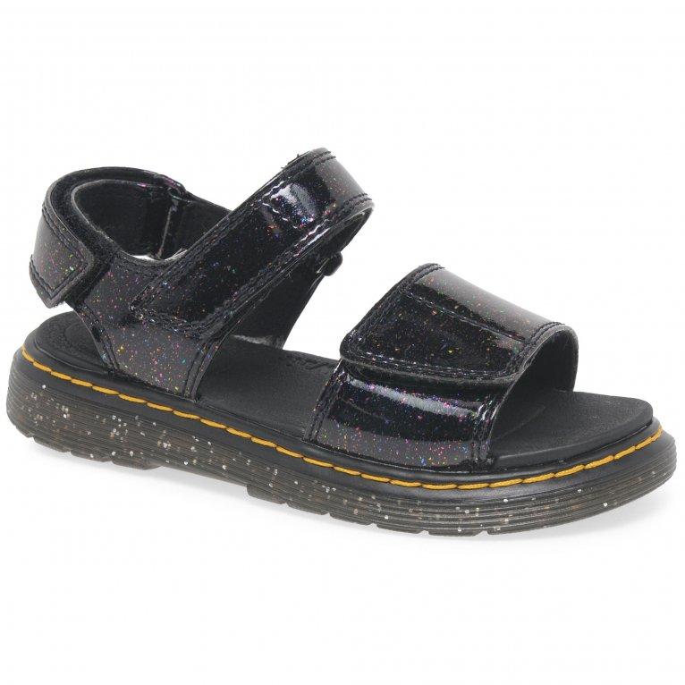 Dr. Martens Romi Girls Junior Cosmic Glitter Sandals