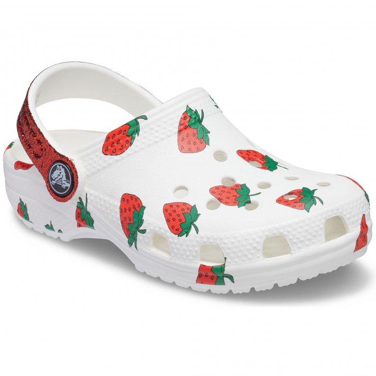 Crocs Food Print Graphic Girls Sandals