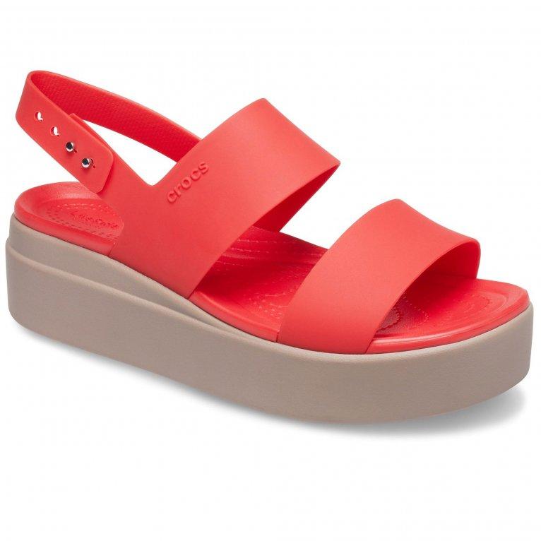 Crocs Brooklyn Low Womens Wedge Sandals