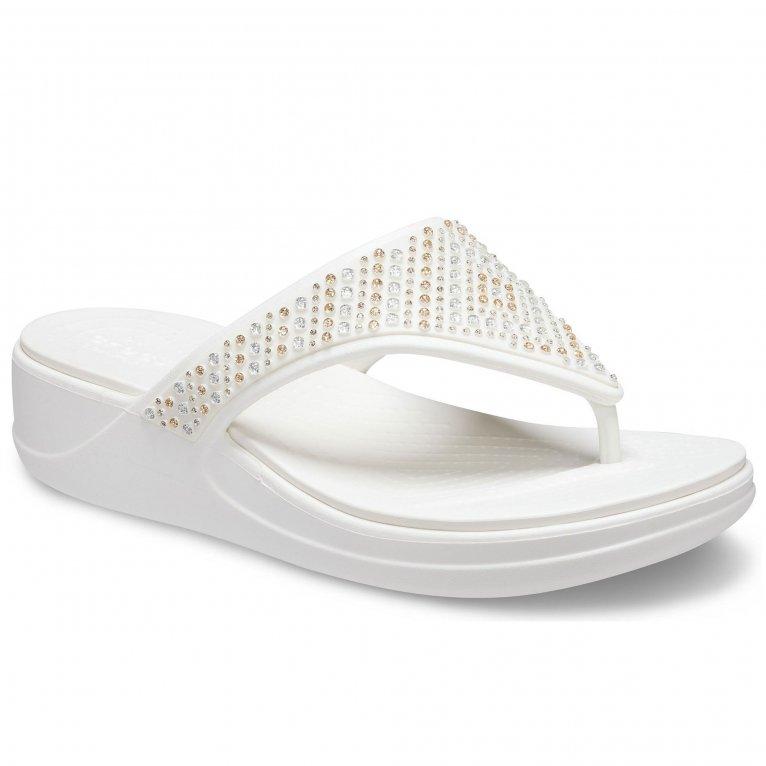 Crocs Monterey Shimmer Womens Toe Post Sandals