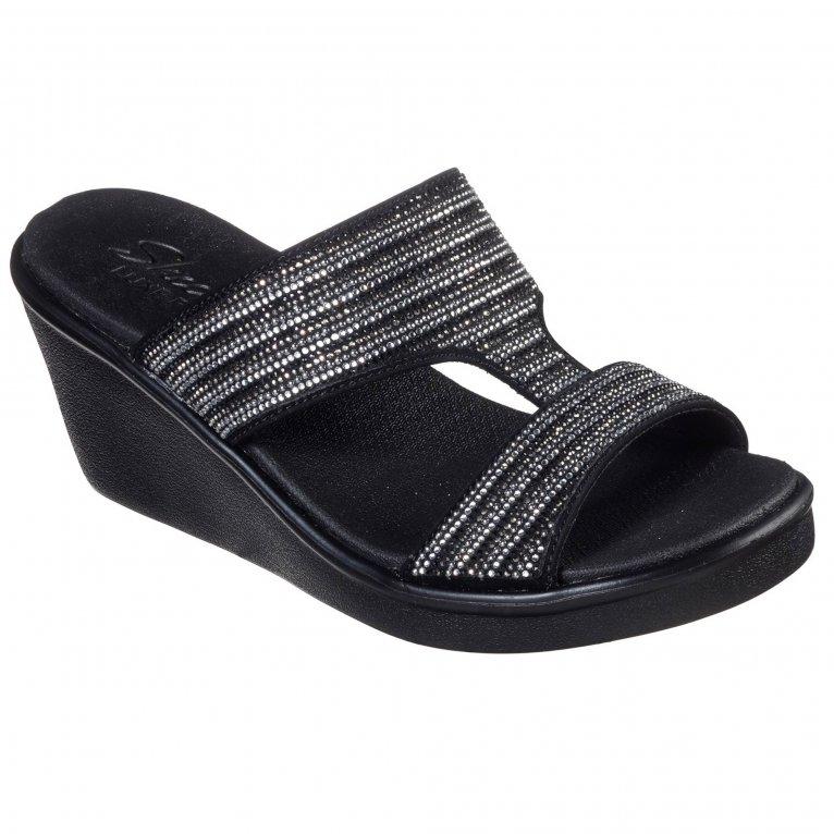 Skechers Rumble On Bling Gal Womens Wedge Sandals