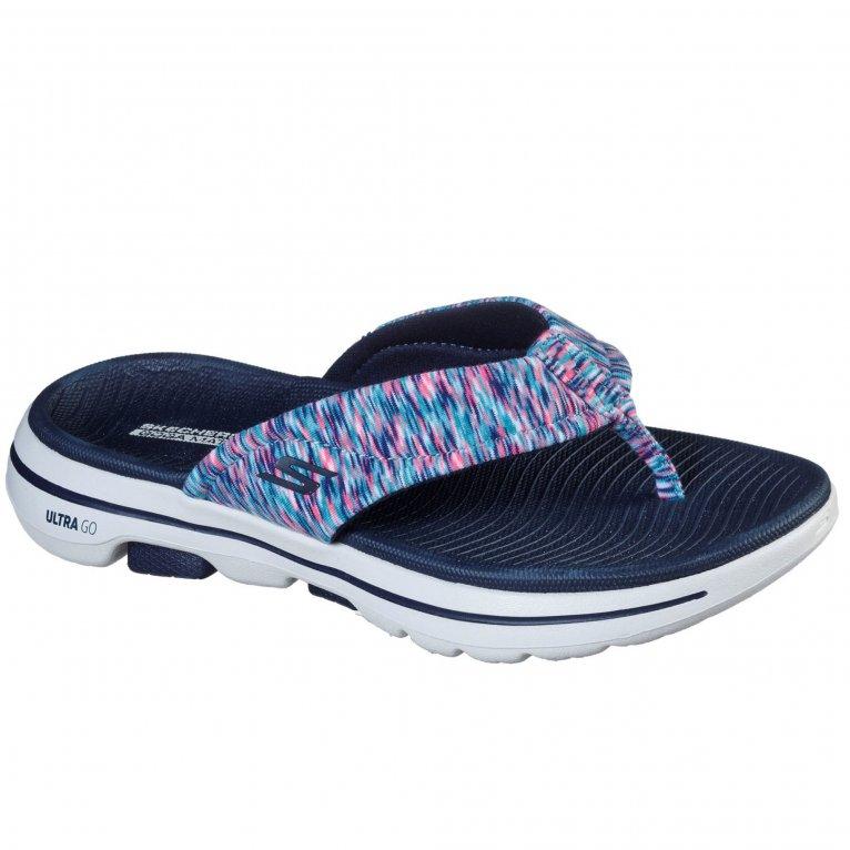 Skechers Go Walk 5 Destined Womens Toe Post Sandals