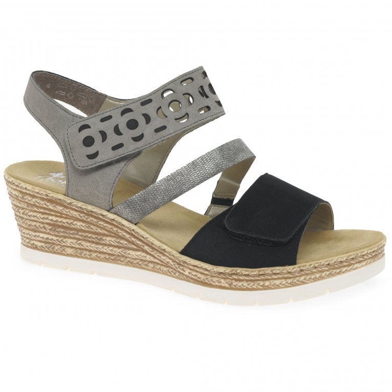 Rieker Temporary Womens Wedge Heel Sandals